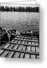 Dock At Island Lake Greeting Card