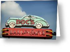 Doc's Bar And Grill Greeting Card