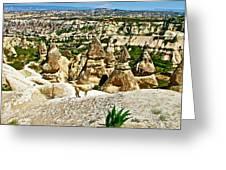 Dog Looking At Fairy Chimneys In Cappadocia-turkey Greeting Card