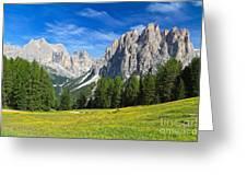 Dolomites - Catinaccio Mount Greeting Card