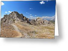 Dolomites - Costabella Ridge Greeting Card