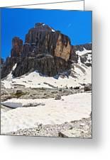Dolomites - Pisciadu Peak Greeting Card