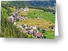 Dolomiti - Laste Village Greeting Card