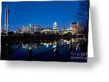Downtown At Dusk Greeting Card