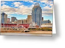 Downtown Cincinnati Pano1 Greeting Card