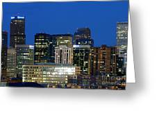 Downtown Denver At Dusk Greeting Card