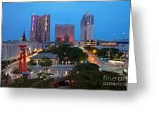 Downtown San Antonio Texas Skyline Greeting Card