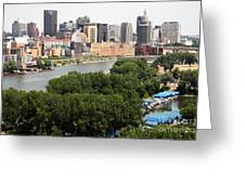 Downtown Skyline Aerial Of St. Paul Minnesota Greeting Card