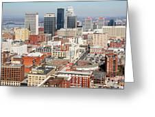 Downtown Skyline Of Louisville Kentucky Greeting Card