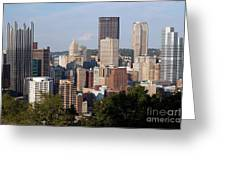 Downtown Skyline Of Pittsburgh Pennsylvania Greeting Card