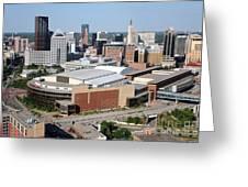 Downtown Skyline Of St. Paul Minnesota Greeting Card