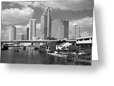 Downtown Tampa Skyline From Davis Islands Greeting Card