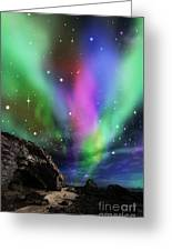 Dramatic Aurora Greeting Card