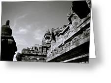 Dramatic Borobudur Greeting Card