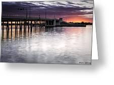 Drawbridge At Sunset Greeting Card