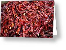 Dried Chilli Greeting Card