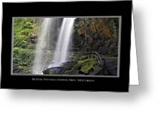 Dry Falls North Carolina Greeting Card