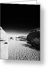 Dry River Bed Between Beehives Sandstone Formations In Valley Of Fire State Park Nevada Usa Greeting Card