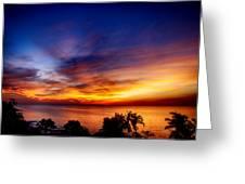 Dry Season-sunset Greeting Card