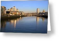Dublin At Dawn Greeting Card