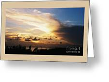 Sunset At Ducks Puddle, Bermuda Greeting Card