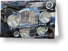 Duesenberg Front Chrome Automobile Grille Greeting Card