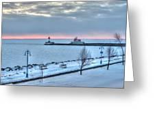 Duluth Winter Sunrise  Greeting Card