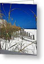 Dune Fence Me In Greeting Card