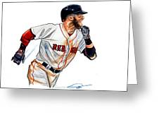 Dustin Pedroia Greeting Card
