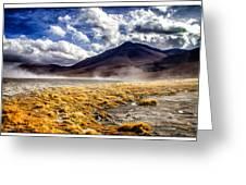 Dusty Desert Road Bolivia Greeting Card