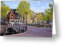 Dutch Canal Houses In Amsterdam Greeting Card