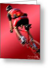 Dynamic Racing Cycle Greeting Card