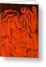 E Vincent Orange Greeting Card