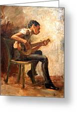 Eakins' Study For Negro Boy Dancing -- The Banjo Player Greeting Card