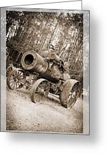 Early 1900's Steam Engine Farm Tractor Greeting Card
