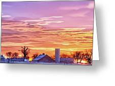 Early Country Morning Sunrise Greeting Card