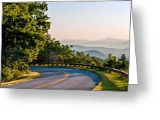 Early Morning Sunrise Over Blue Ridge Mountains Greeting Card