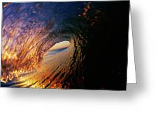 Early Morning Wave Breaking Greeting Card