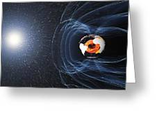 Earths Magnetic Field Greeting Card