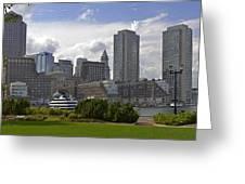 East Boston Harbor Greeting Card