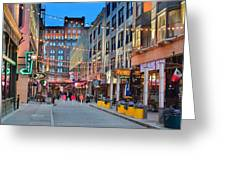 East Fourth Street In Cleveland Greeting Card