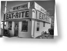 Eat Rite Diner Route 66 Greeting Card