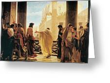 Ecce Homo Greeting Card by Antonio Ciseri