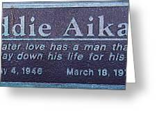 Eddie Aikau Plaque Greeting Card