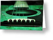 Edgy Abstract Eclectic Guitar 15 Greeting Card