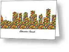 Edmonton Canada Building Blocks Skyline Greeting Card