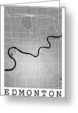 Edmonton Street Map - Edmonton Canada Road Map Art On Colored Ba Greeting Card
