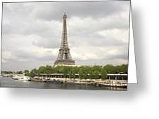 Eiffel Tower And The Seine Greeting Card