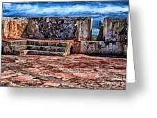 El Morro Fortress Old San Juan Greeting Card