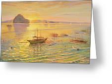 El Nido Sunrise Greeting Card